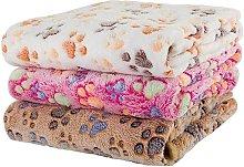 Soft Dog / Cat Blanket, 3pcs Soft Warm Animal