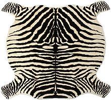 Soft Faux Zebra Print Rug Animal Printed Carpet