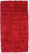 Soft Feel Long Pile Rug, 150 cm x 80 cm, Red