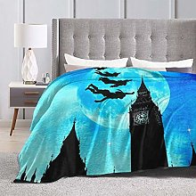 Soft Flannel Bed Blanket Soft Throw-Blankets for