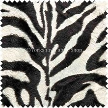 Soft Fur Skin Imitation Zebra Pattern Animal