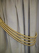 Soft Gold Cord Band Curtain Tie Back/Tieback by