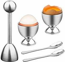Soft Hard Boiled Egg Cutter Topper Set Egg Cracker