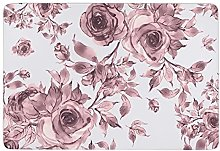 Soft Lilac Roses,Area Rugs Washable floor mat