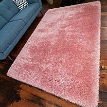 Soft Luxe Blush Pink Large Shaggy Shag Living Room