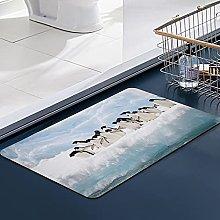 Soft Microfiber Bath Mat,Penguin Bathroom Mat,
