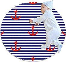 Soft Round Area Rug 80x80cm/31.5x31.5IN Anti-Slip