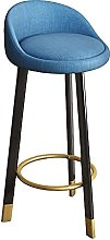 Soft Seat Bar Chairs with Black Metal Legs, Modern