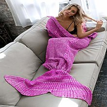 Soft Sherpa Blanket Mermaid Tail Blanket Handmade