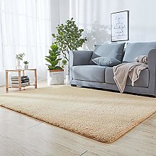 Soft Touch Shaggy Carpet Rug 70 x 130 cm Beige for