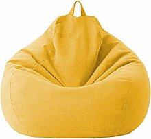 Soft Zipper Bean Bag Chairs Cover Lazy Lounge