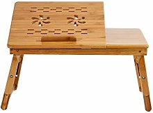 sogesfurniture Portable Bamboo Laptop Stand Lap