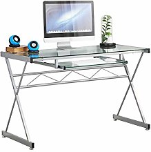 sogesfurniture Tempered Glass Top Computer