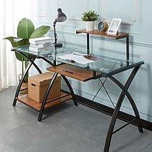SogesHome Computer Office Desk Glass Desk Computer
