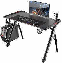 SogesHome Gaming Desk with LED Lights Computer