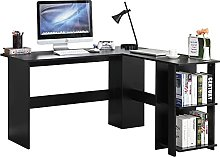 SogesHome L-Shaped Computer Desk Large Corner Desk