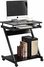 SogesHome Movable Computer Desk with Sliding