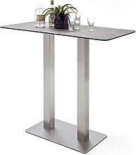 Soho Glass Bar Table Rectangular In Mokka And