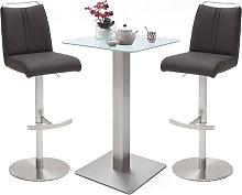 Soho Glass Bar Table With 2 Giulia Anthracite