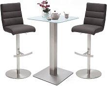Soho Glass Bar Table With 2 Hiulia Anthracite