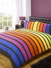 Soho Multi Stripe Duvet Cover Quilt Bedding Set,