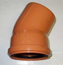 Soil Pipe 30 Degree Bend 110 mm Inlet - Push Fit -