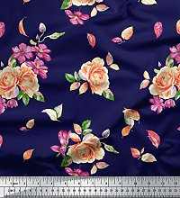 Soimoi 44 Inches Wide Georgette Dressmaking Fabric