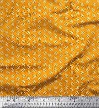 Soimoi Cotton Duck Fabric Dot & Pretzels Food