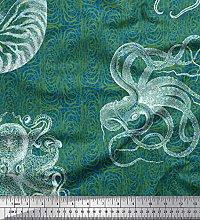 Soimoi Cotton Poplin Fabric Animal Skin,Shell &