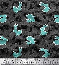 Soimoi Cotton Poplin Fabric Artistic Floral &