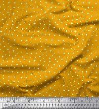 Soimoi Crepe Silk Fabric Star Small Print Fabric