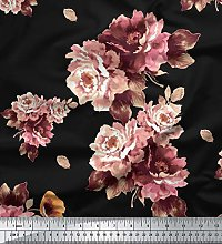 Soimoi Floral Printed 44 Inches Wide 65 GSM