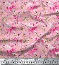 Soimoi Georgette Fabric 65 GSM Floral Print 44