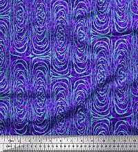 Soimoi Purple Cotton Poplin Fabric Leopard & Wild