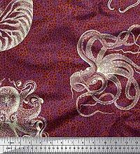 Soimoi Satin Silk Fabric Animal Skin,Shell &