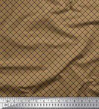 Soimoi Satin Silk Fabric Bone & Paw Shirting