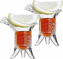 Soju Shot Glasses, 1oz Unique Shot Glasses Set of