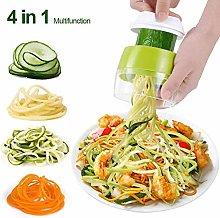 Sokey Handheld Spiralizer Vegetable Slicer, 4 in 1