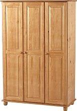 Sol 3 Door Wardrobe in Antique Pine