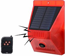Solar Alarm Lamp with Remote Control, KEEDA Motion