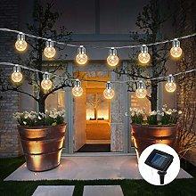Solar Bulb String Lights Outdoor, 3.8M 10 LED
