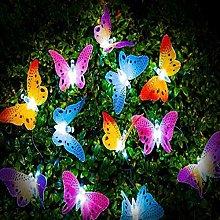 Solar Butterfly String Lights, 5M 20LED Solar