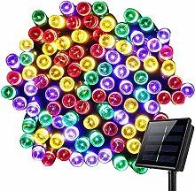 Solar Christmas Fairy Lights, 7M 50 LED Solar Tree