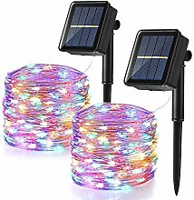Solar Christmas Lights Outdoor, BrizLabs 2 Pack