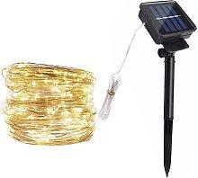Solar Copper Wire String Light Christmas LED
