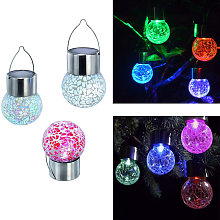Solar cracked hanging ball, colorful changeable