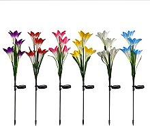 Solar Decoration Light 6 Pcs, 7 Color Led Flower