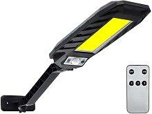 Solar Diamond Shape Wall Lamp Lighting Street Light IP65 With Controller Three Lighting Modes 60LED/120COB/180COB,model: 120COB