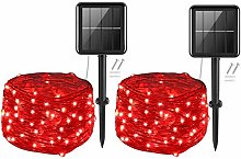 Solar Fairy Lights Outdoor,Cshare 50LEDs 2 Pack