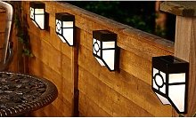 Solar Fence Lights: 10-Pack